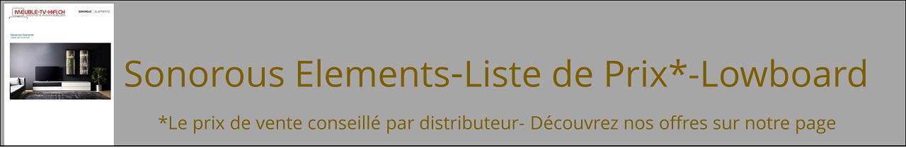sonorous elements lowboard liste de prix