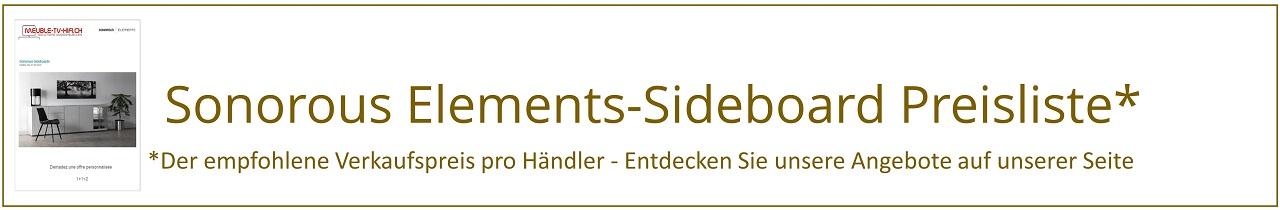 sonorous elements | Sideboards Preisliste