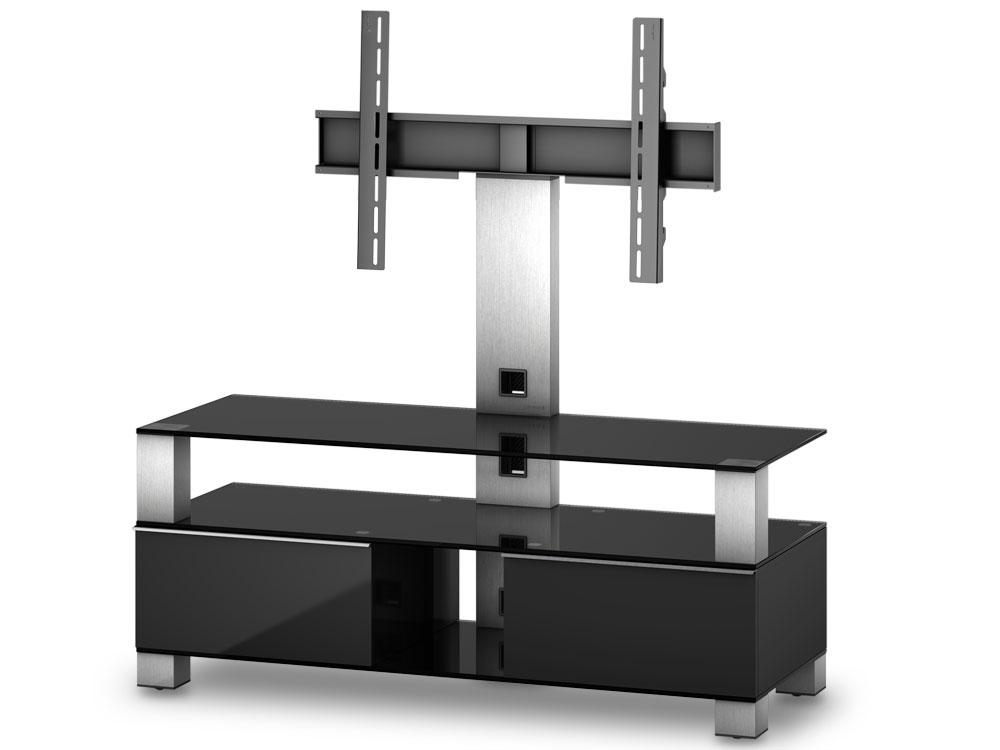 sonorous tv m bel md8123 b inx blk schwarz md8123 b 120cm hifi tv moebel ch. Black Bedroom Furniture Sets. Home Design Ideas
