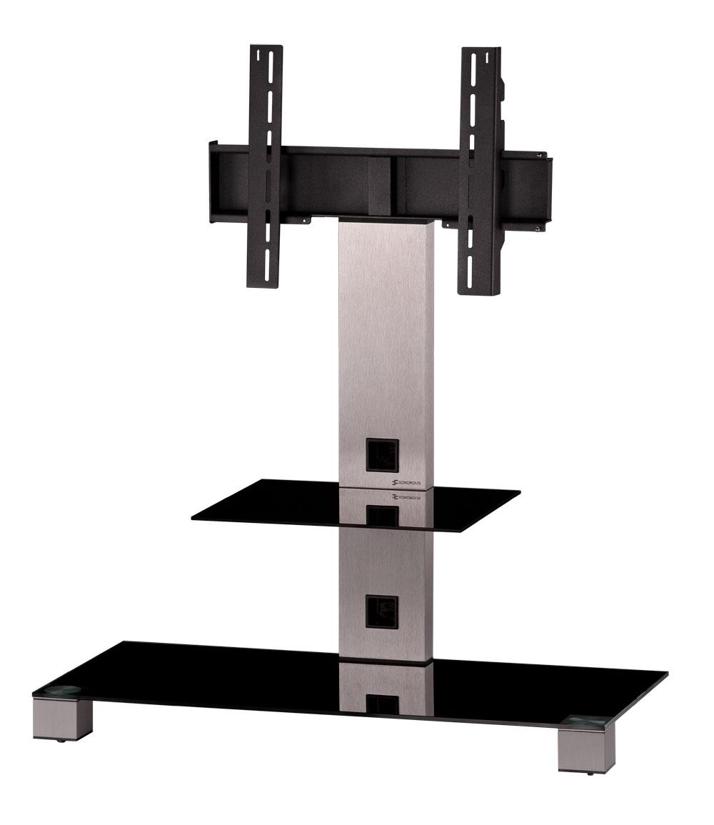 sonorous tv m bel standfuss pl2500 b inx mit halterung schwarzglas tv standfuss sonorous. Black Bedroom Furniture Sets. Home Design Ideas