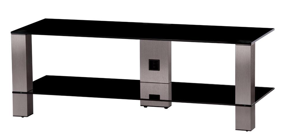 sonorous tv m bel pl3410 b inx mit rollen schwarzglas. Black Bedroom Furniture Sets. Home Design Ideas