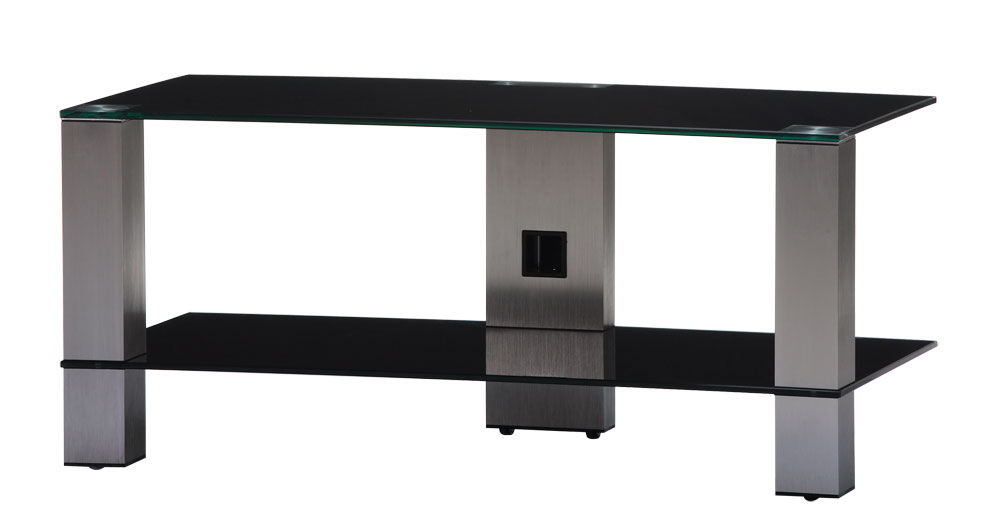 sonorous tv m bel pl3415 b inx mit rollen schwarzglas. Black Bedroom Furniture Sets. Home Design Ideas