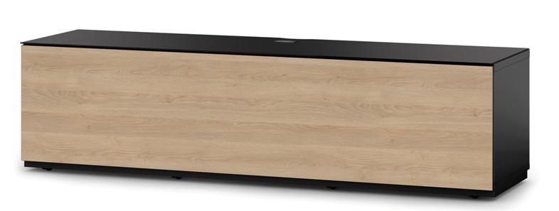 tv m bel sonorous lowboard studio sta160f blk oak bs. Black Bedroom Furniture Sets. Home Design Ideas