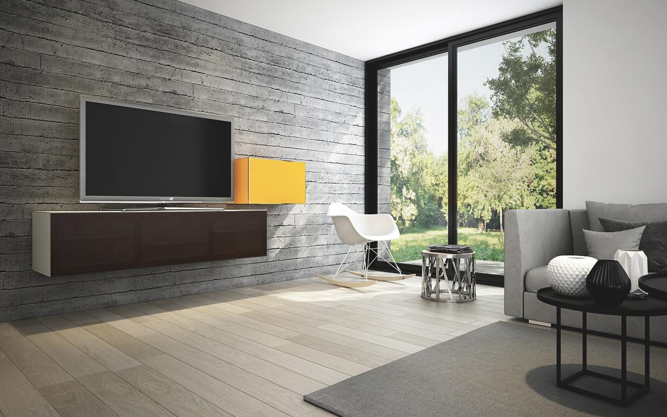 Tv Wand Mobel Sonorous Studio Sta160 Wl B 165 Cm Stoffbezug Ideal Fur Integration Von Center Lautsprecher Sonorous Lowboard Studio Hifi Tv Moebel Ch