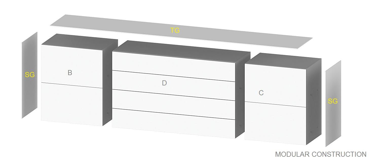 kommoden sonorous elements sideboard sb13084 h 80 cm erstellen sie ihr kommode sideboard. Black Bedroom Furniture Sets. Home Design Ideas