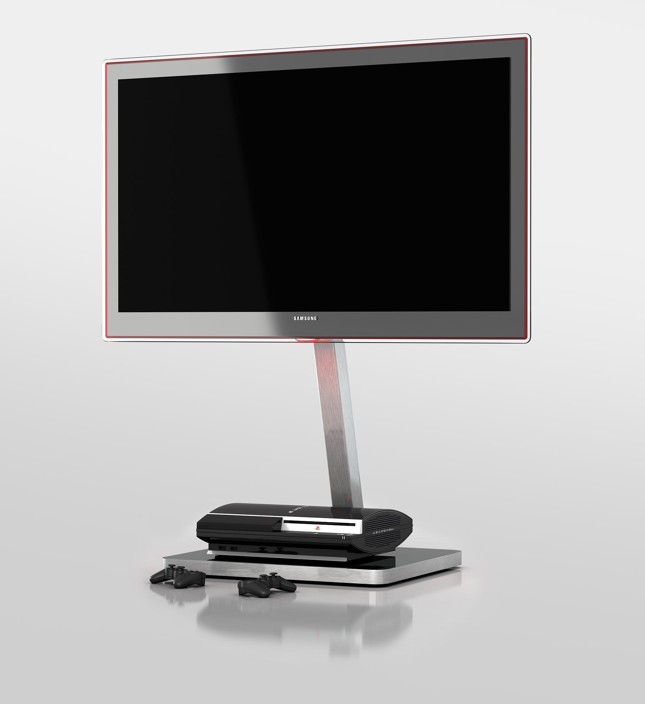 sonorous tv standfuss pl2700 grp slv mit halterung fernsehm bel tv lowboard sideboard tv m bel. Black Bedroom Furniture Sets. Home Design Ideas