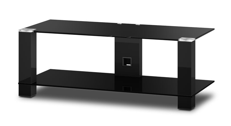 sonorous tv m bel pl3415 b hblk mit rollen schwarzglas. Black Bedroom Furniture Sets. Home Design Ideas