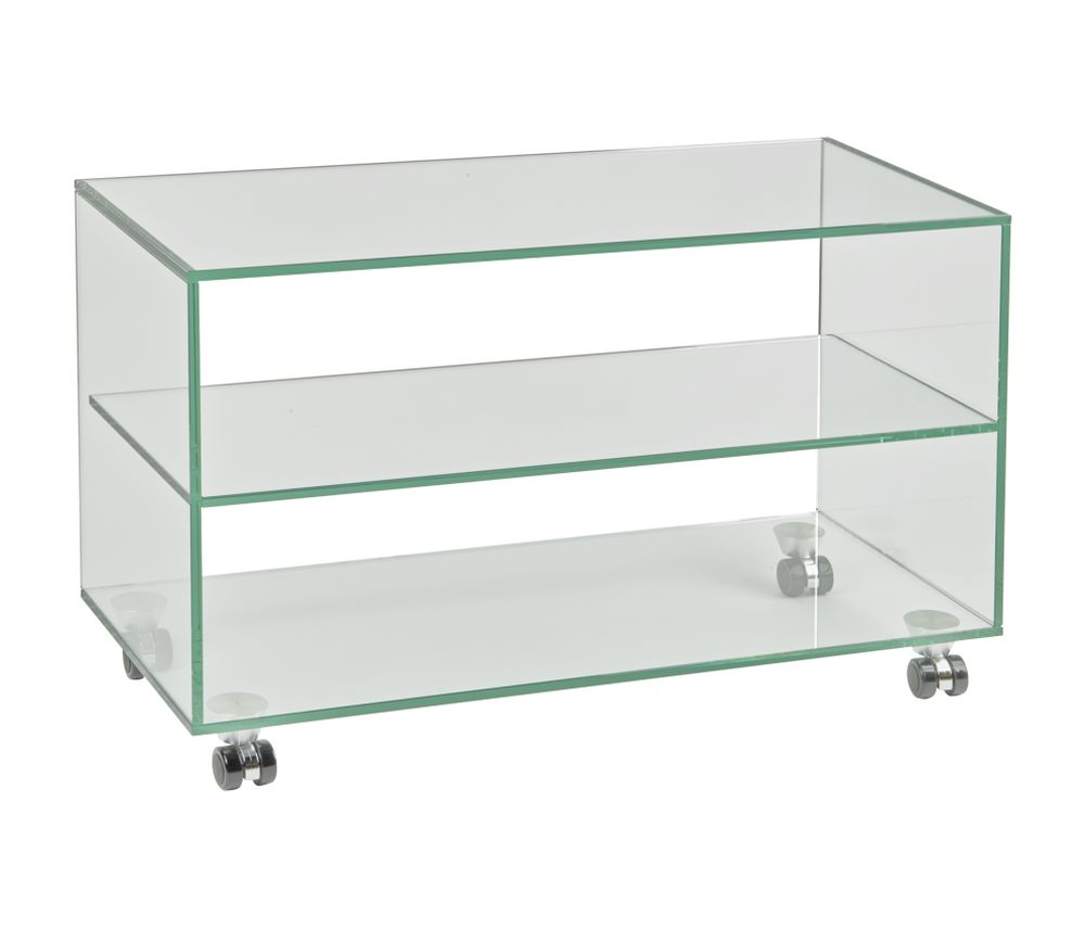 Design tv möbel glas  TV Möbel Eco 750, klarglas | Audioraq | HIFI-TV-MOEBEL.CH