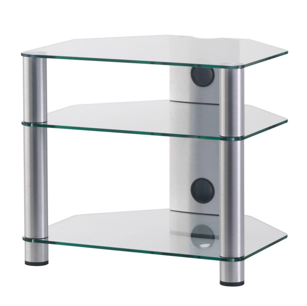 sonorous hifi rack rx2130 c slv mit kabelkanal klarglas tv hifi m bel schweiz. Black Bedroom Furniture Sets. Home Design Ideas