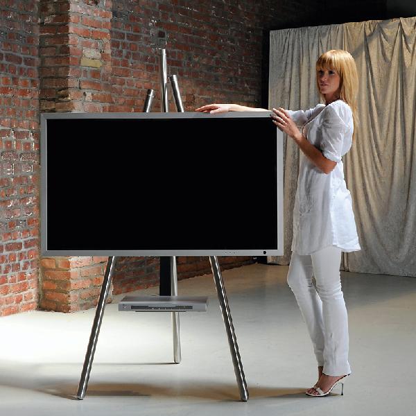 wissmann raumobjekte tv standfuss tripod art130 tv standfuss raumobjekte hifi tv moebel ch. Black Bedroom Furniture Sets. Home Design Ideas