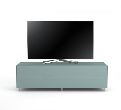 TV Möbel Lowboard 160 cm Epure SINGLE TIDY XL Nordic Blauglas Satiniertes