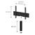 TV Möbel Sonorous lowboard Studio st160t-blk-blk-bs, Schwarz-Schwarz Stoffbezug / Ideal für Integration von Center-Lautsprecher